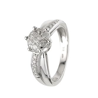 9ct White Gold Half Carat Ring - Product number 6119859
