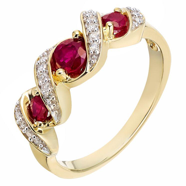 Ruby And Diamond Ring H Samuel