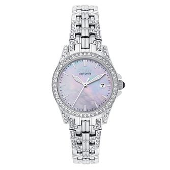 Citizen Ladies' Eco-Drive Stainless Steel Bracelet Watch - Product number 6136559