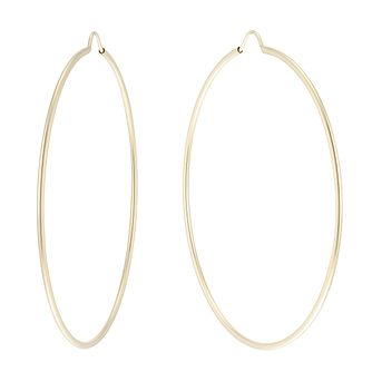 9ct Gold Large Thin Hoop Earrings - Product number 6137547