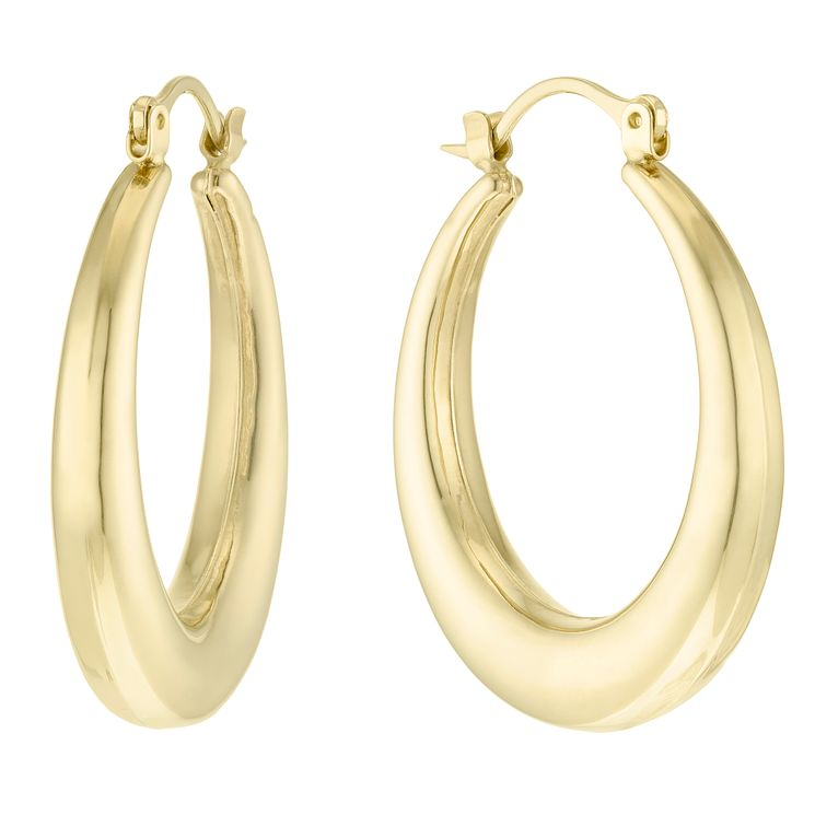 9ct Gold Chunky Creole Earrings - Product number 6138004