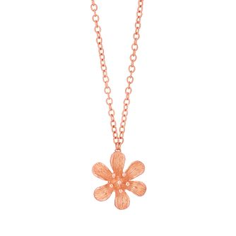 9ct Rose Gold Flower Pendant - Product number 6138691