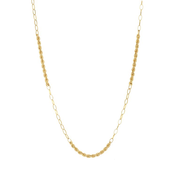 "9ct Gold 34"" Rope Station Necklace - Product number 6138713"