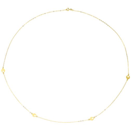 "9ct Gold 24"" Disc Station Necklace - Product number 6139787"