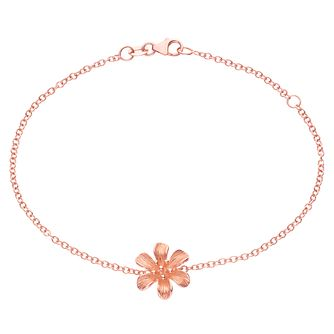 9ct Rose Gold Flower Bracelet - Product number 6140394