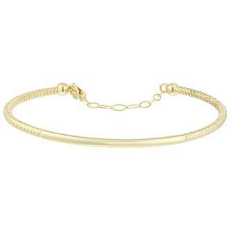 9ct Gold Textured Bangle - Product number 6140440