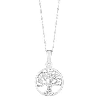 Sterling silver necklaces hmuel sterling silver tree of life design circle pendant product number 6140645 aloadofball Gallery