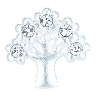 Sterling Silver Crystal Set Tree Single Stud Earring - Product number 6140688