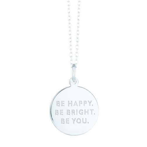 Sterling Silver Be Happy, Be Bright, Be You Pendant - Product number 6140726