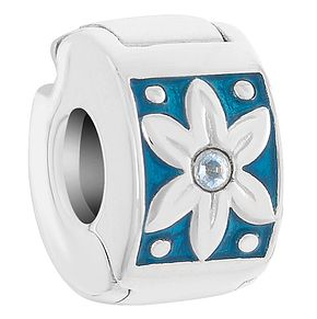 Chamilia Sterling Silver Teal Petals Lock Bead - Product number 6142745