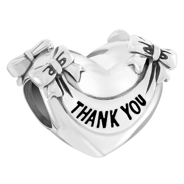 Chamilia Sterling Silver Thank You Heart Bead - Product number 6142931