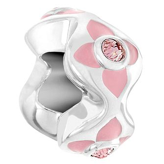 Chamilia Sparkling Spacer Rose Bead - Product number 6143474