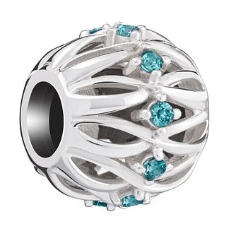 Chamilia Twisted Ribbons Mint Zirconia Charm - Product number 6143571