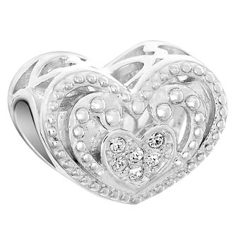 Chamilia Sterling Silver Radiating Heart Bead - Product number 6143806