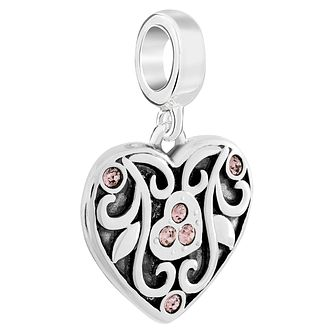 Chamilia Sterling Silver Secret Garden Blush Rose Charm - Product number 6143873