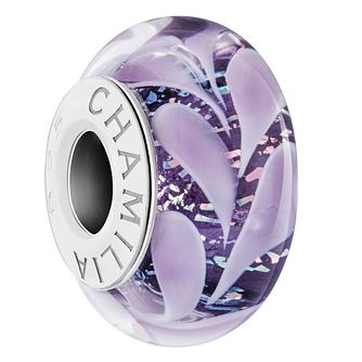 Chamilia Purple Paisley Iris Murano Bead - Product number 6144179