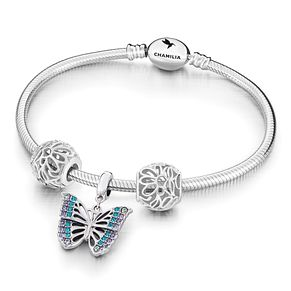 Chamilia Rainforest Butterfly Charm & Bracelet Set - Product number 6144470