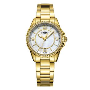 Rotary Ladies' Gold Plated Bracelet Watch - Product number 6144985