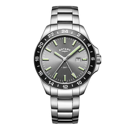 Rotary Men's Havana Stainless Steel Bracelet Watch - Product number 6145000