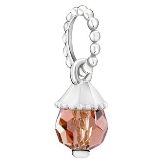 Chamilia Teardrop Accent Blush Rose Crystal Charm - Product number 6145159