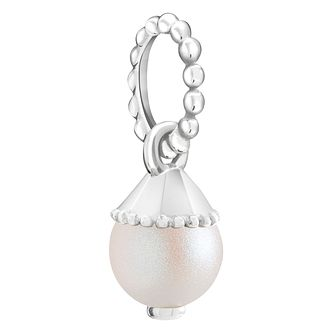 Chamilia Teardrop Accent Pearlescent Crystal Pearl Charm - Product number 6145183