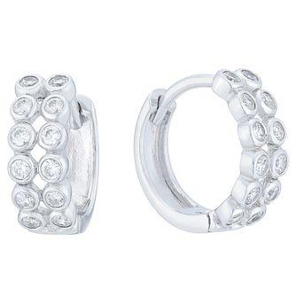 Sterling Silver Cubic Zirconia Hoop Earrings - Product number 6147186