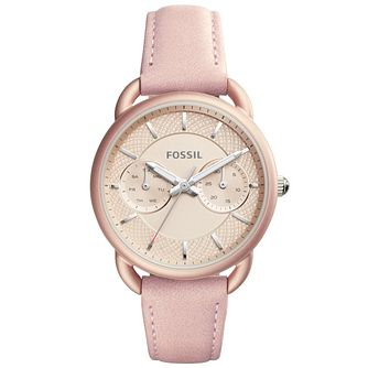 Fossil Tailor Ladies' Rose Gold Tone Strap Watch - Product number 6153119