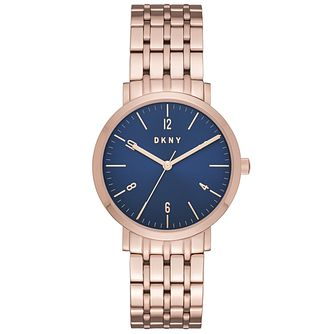 DKNY Ladies' Rose Gold Tone Bracelet Watch - Product number 6153437