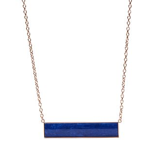 Fossil Rose Gold Tone Blue Necklace - Product number 6154573