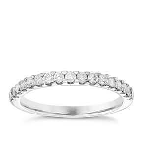 9ct White Gold 0.33ct Diamond Wedding Band - Product number 6155200