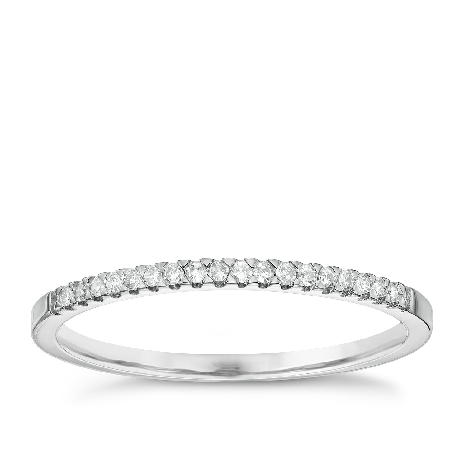 9ct White Gold Diamond Wedding Band Ernest Jones