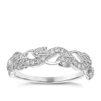9ct White Gold 0.25ct Diamond Wedding Band - Product number 6156045