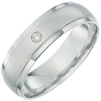 9ct White Gold Diamond 6mm Wedding Band - Product number 6156185