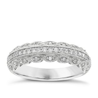 18ct White Gold 0.25ct Diamond Wedding Band - Product number 6156827