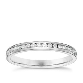Platinum 0.20ct Diamond Wedding Band - Product number 6157904