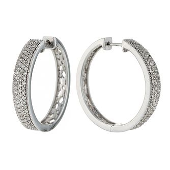 9ct white gold 0.50ct diamond earrings - Product number 6158560