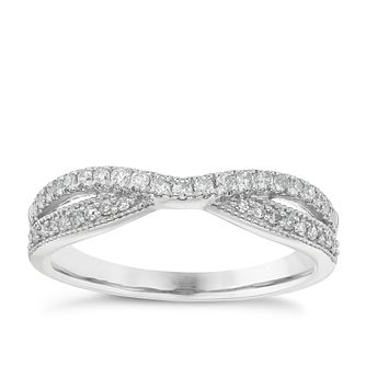 18ct White Gold 0.25ct Diamond Wedding Band - Product number 6162363