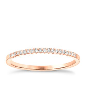 9ct Rose Gold Diamond Wedding Band - Product number 6167187