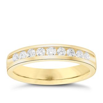 18ct Yellow Gold 0.33ct Diamond Wedding Band - Product number 6170145
