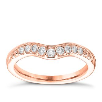 18ct rose gold 015ct diamond shaped wedding band product number 6170951 - Rose Shaped Wedding Ring