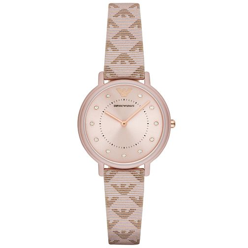 Emporio Armani Ladies' Rose Gold Plated Strap Watch - Product number 6171451