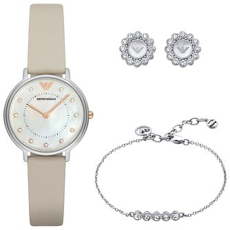 Emporio Armani Ladies' Stainless Steel Watch & Jewellery Set - Product number 6171524
