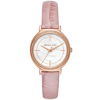 Michael Kors Ladies' Rose Gold Tone Strap Watch - Product number 6171796