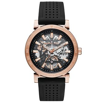 Michael Kors Men's Rose Gold Tone Bracelet Skeleton Watch - Product number 6171923