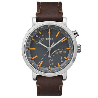 Timex Metropolitan Dark Brown Leather Smartwatch - Product number 6175422