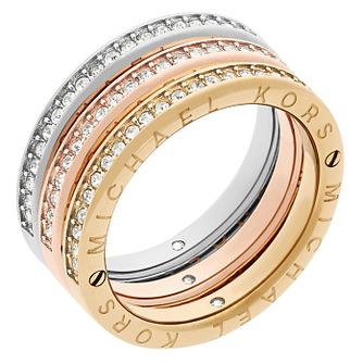 Michael Kors Three Colour Stone Set Ring Size L - Product number 6175538