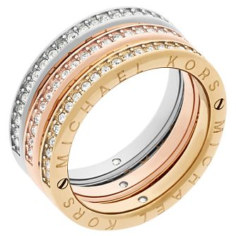 Michael Kors Three Colour Stone Set Ring Size N - Product number 6175546