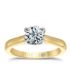 Leo Diamond 18ct yellow & white gold 1ct I-SI2 ring - Product number 6176038