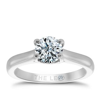 Leo Diamond platinum 0.88ct I-SI2 solitaire ring - Product number 6176410