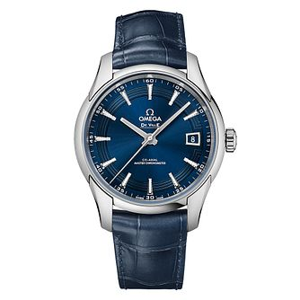 Omega De Ville Men's Blue Stainless Steel Strap Watch - Product number 6180922